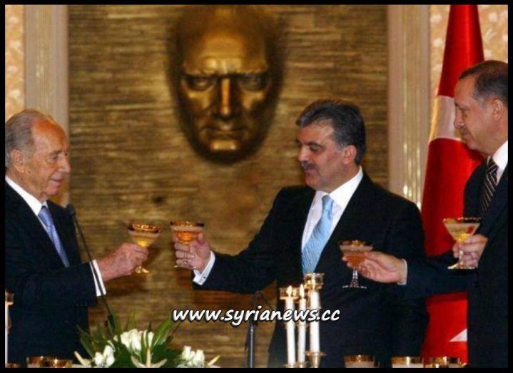 image-Erdogan, Gul and their Zionist Master Shimon Perez and Cheers for the Greater Israel Project in the Middle East
