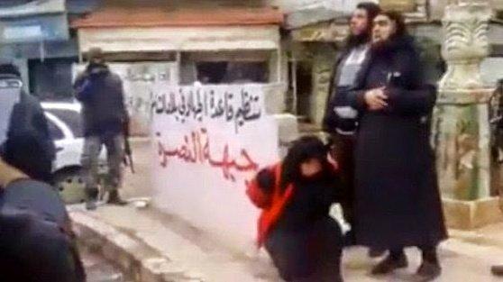 femicide -syrian woman executed idlib
