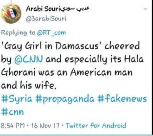Arabi Souri Hala Gorani CNN Gay Girl in Damascus