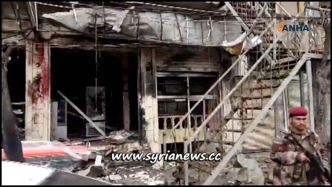 Manbij 5 US Troops Killed 30 Civilians 10 Kurds Separatists by ISIS Suicide Bomber