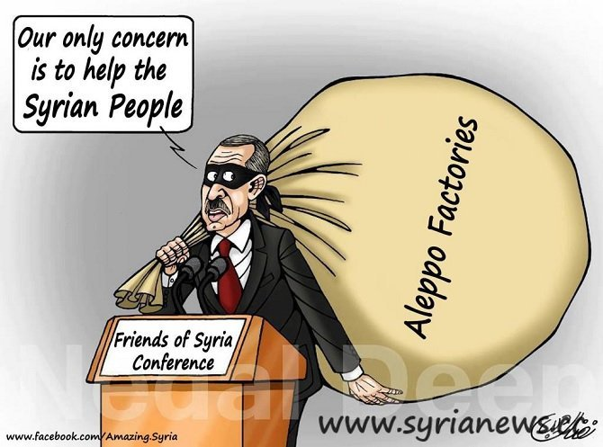 Erdogan: Syrian factories and economy thief