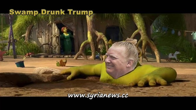 Swamp Drunk Trump - Was elected to drain the swamp and instead became swamp drunk