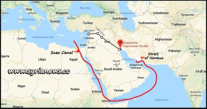 Iran bypass Strait of Hormuz, Arabian Sea, Gulf of Aden, Red Sea and Suez Canal to reach the Mediterranean