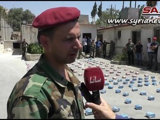 Law enforcement confiscate large quantity of narcotics south of Damascus