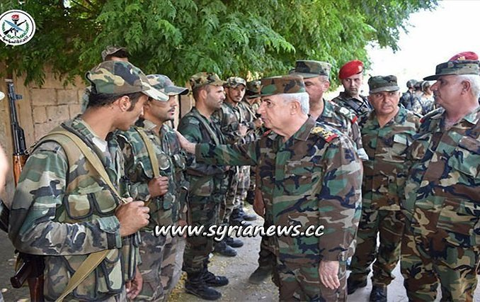 Syrian Minister of Defence Visits Al-Hobait Few Hours after Cleaning it from Nusra Front