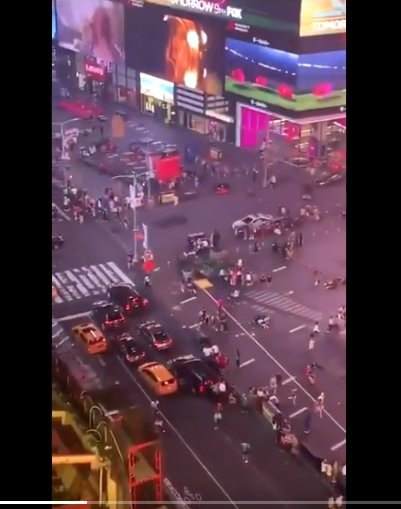 Speaking of motorcycles: A couple of them backfired in Times Square (NYC) yesterday causing a stampede by frightened pedestrians. NATO media is viralizing this video.