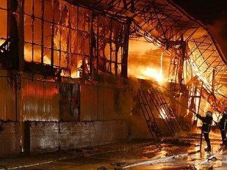yangin turkish bazaar on fire