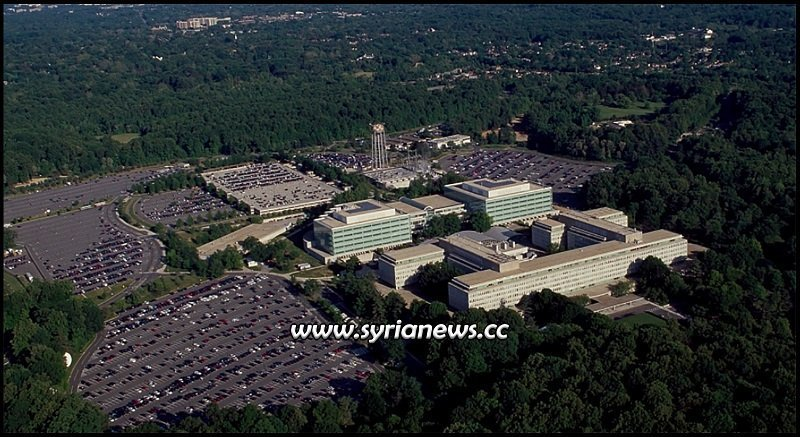 Aerial View: ISIS Headquarters - Langley VA - George Bush Center for Intelligence