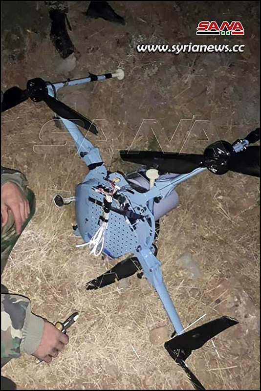 SAA officer dismantles Israeli drone loaded with cluster bomb and C4 explosives