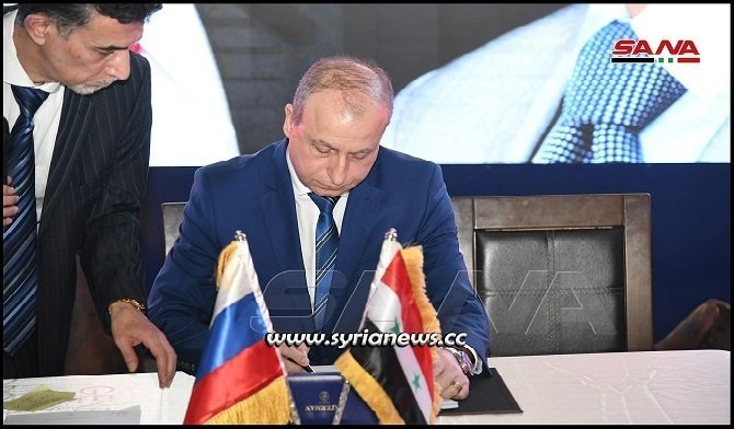 Syrian Ministry of Oil and Mineral Resources Signed 3 Contracts with Russian companies