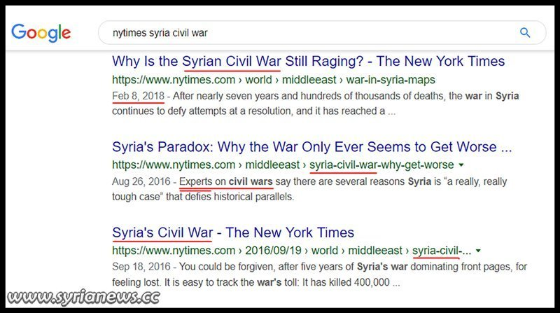 Syrian Civil War: New York Times defies dictionaries and defines the US-led war of terror on Syria as a civil war