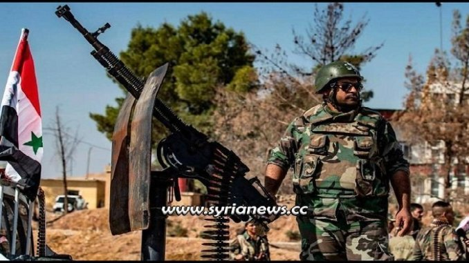 SAA Syrian Arab Army deploys in Ayn Al Arab Kobani at Turkish Borders