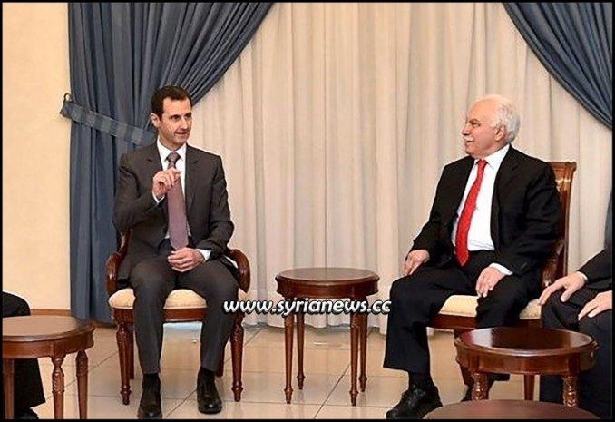Syrian President Bashar Al-Assad Receiving a Turkish Delegation Mr. Perincek