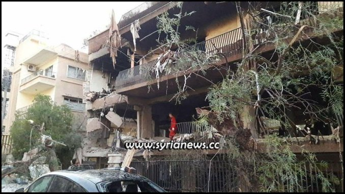 Explosion in Damascus Al Mazzeh West near Lebanese Embassy