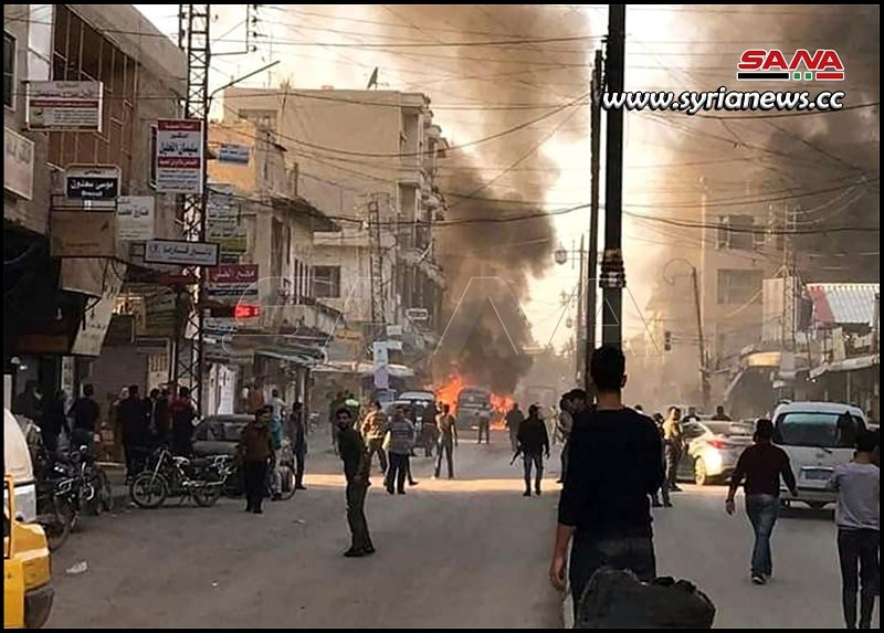 Qamishli City: Car bombings kill 3 civilians injure 20