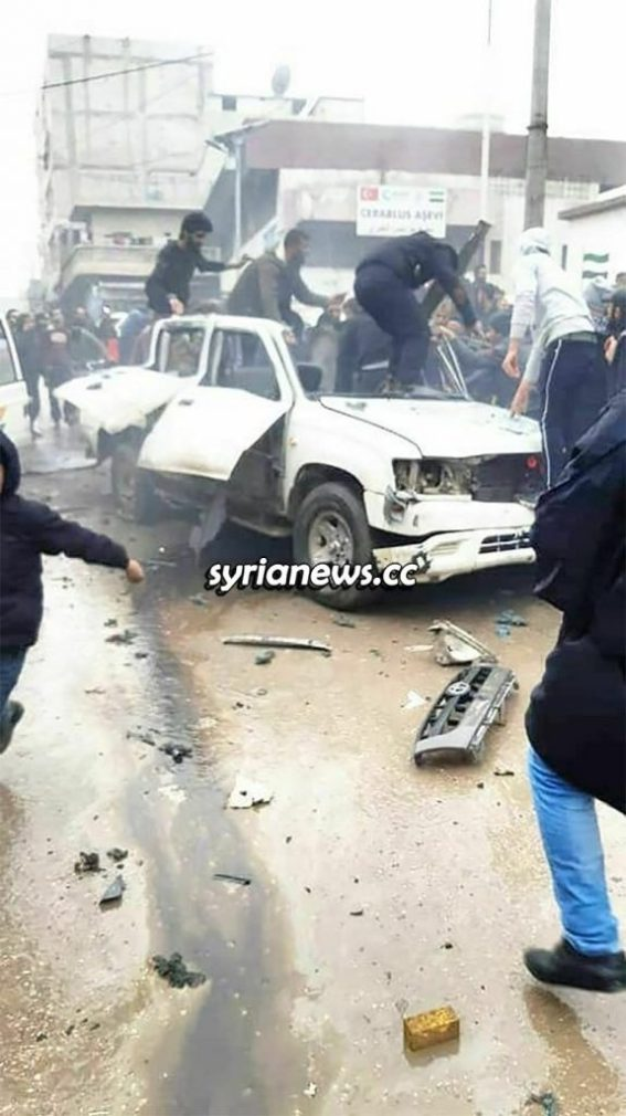 Syria Jarabulus Turkey terrorists warlords fighting over bounties car bomb explosion