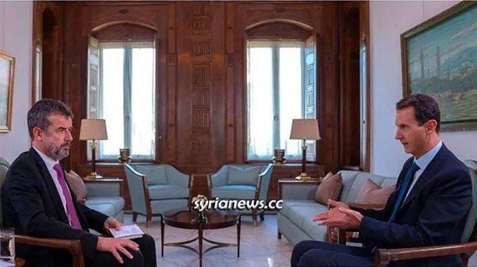 Syrian President Bashar Assad interview Paris Match