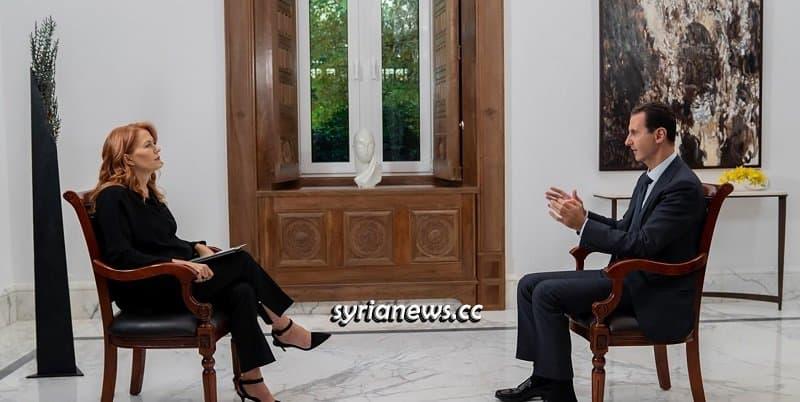 Syrian President Bashar Assad interview with Italian Rai News 24 Media