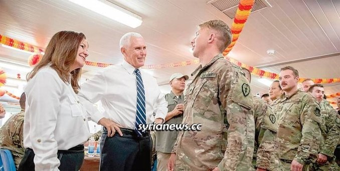 US VP Pence visiting Al Asad Air Base in Iraq bombed by IRGC today