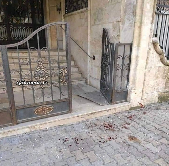 Terrorists attack on Aleppo kill civilians - Victim Rawan Mohammad Blood in front of her house