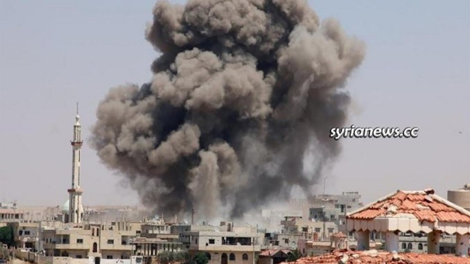 NATO terrorists bomb residential neighborhoods in Aleppo
