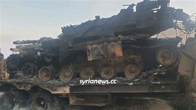 SAA Syrian Arab Army destroys Turkish Erdogan tanks in Idlib