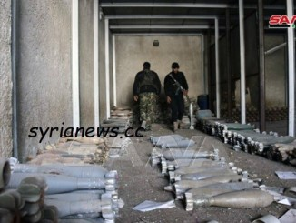 weapons and munition found by the SAA in a former clothing factory