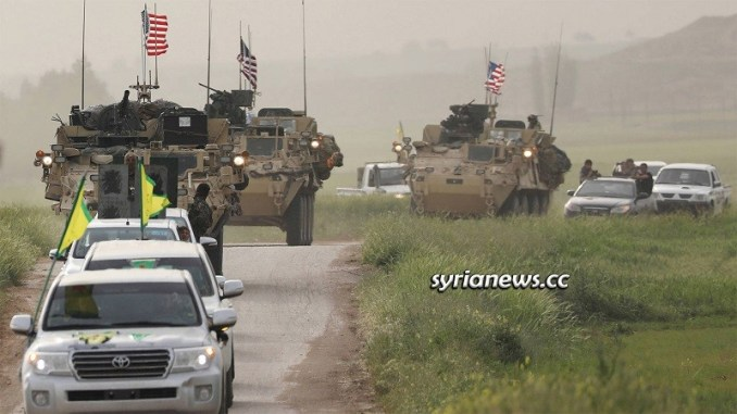 US illegal military troops - forces in Syria with Kurdish SDF help to loot Syrian oil