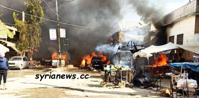 afrin local market tanker explosion