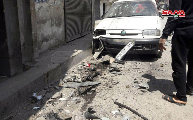 East of Homs Explosion injuring civilians