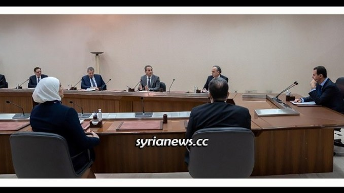 President Assad heads the government team for confronting Coronavirus - Damascus