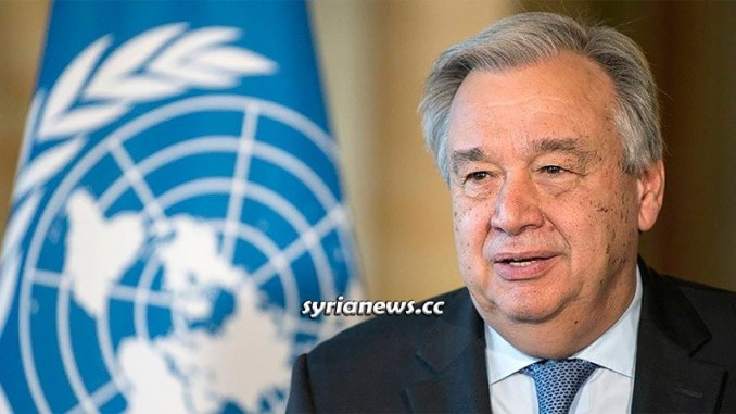 United Nations UN Secretary-General Antonio Guterres