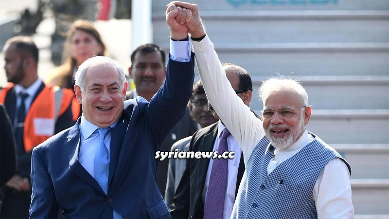 Indian Prime Minister Narendra Modi and Israeli War Criminal Netanyahu