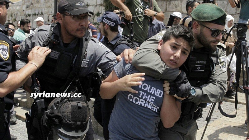 Israel IDF soldiers kidnap Palestinian child