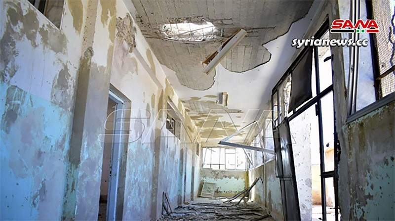 Israel bombed a school in Quneitra southwest of Syria