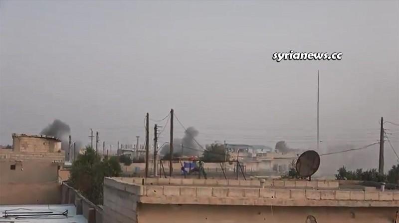 Erdogan terrorists shelling Ain Issa Northern Raqqa Countryside