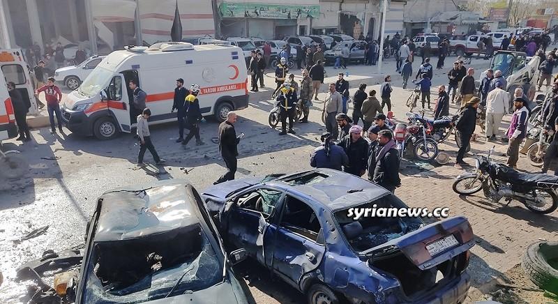 Explosion in Al Bab city northern Aleppo countryside