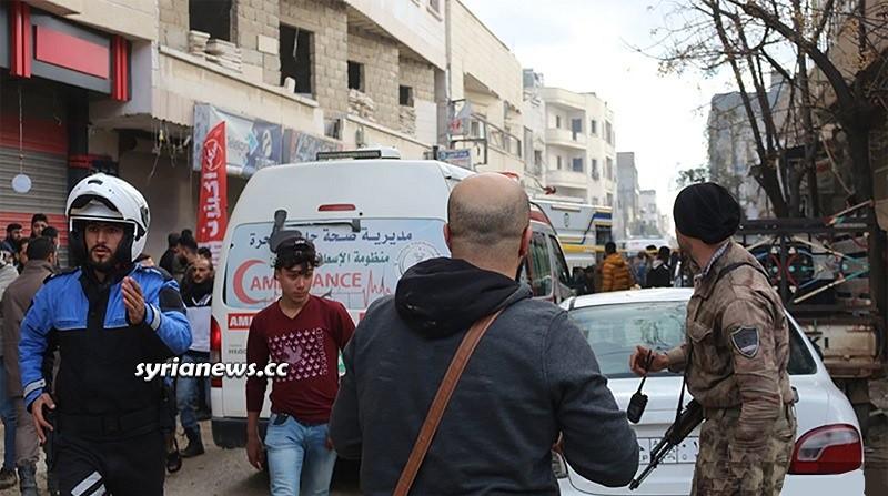 Car explosion in Azaz kills 6 injures 31 Aleppo countryside