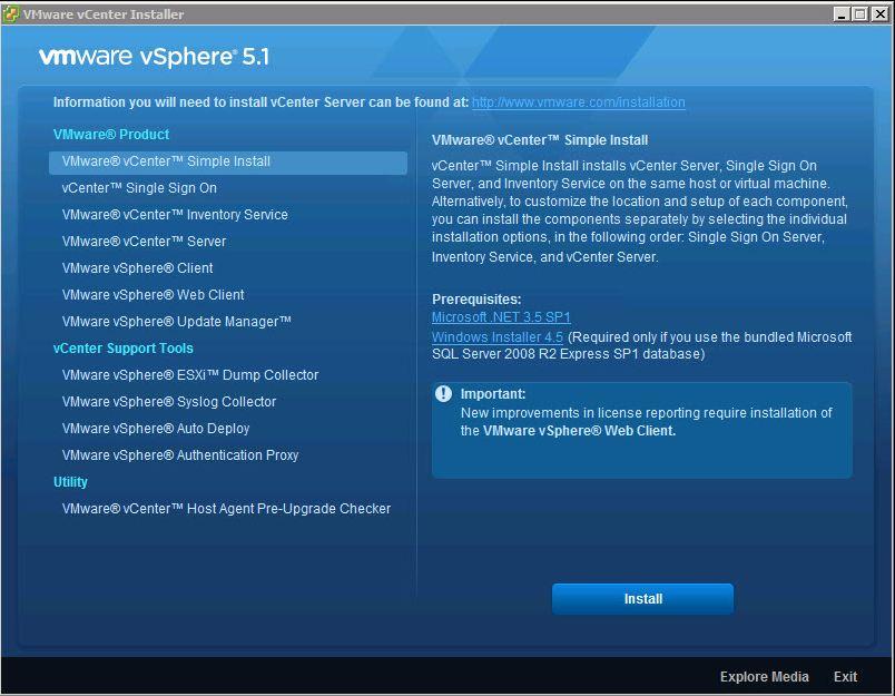 vcenter51 installer Upgrading vCenter 5 to vCenter 5.1