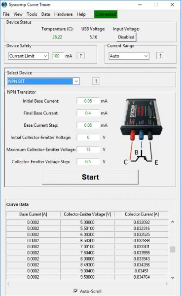 CTR-201 Analysis Control Panel: NPN Transistor