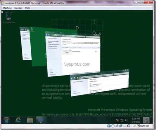 working Windows 8 aero in Virtualbox