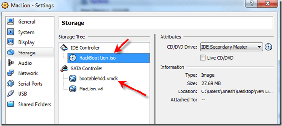 lion on virtualbox