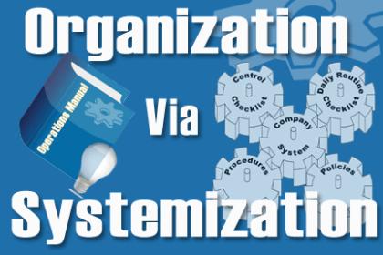 organization through systemazation