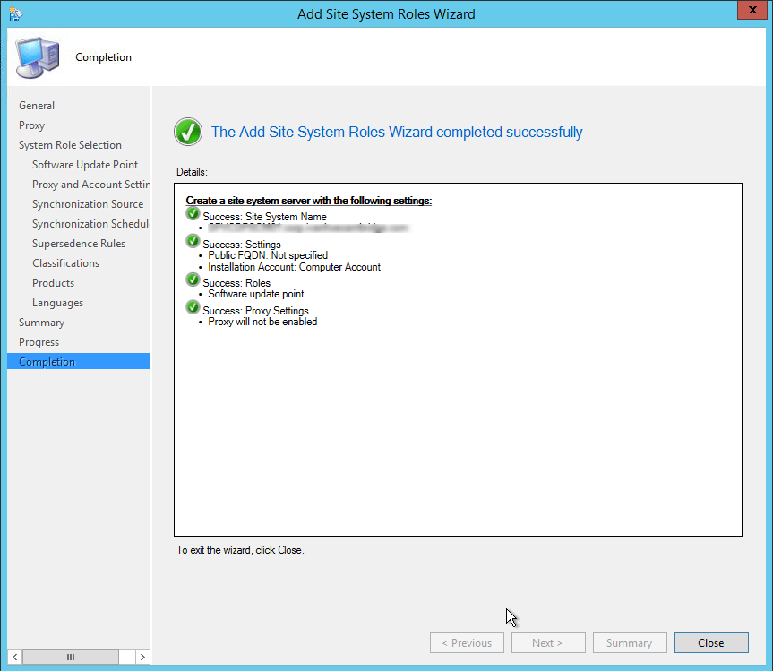 sccm 2012 software update point