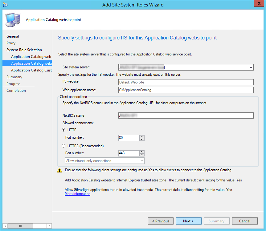 sccm 2012 application catalog