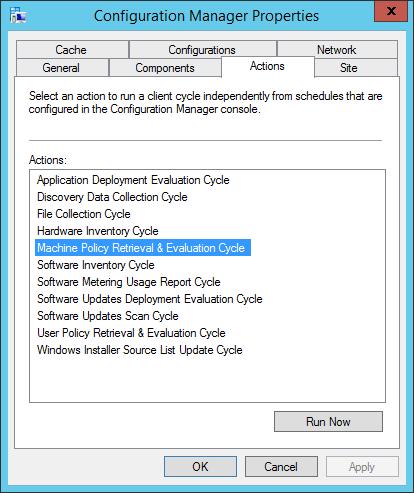 SCCM 1511 Software Center