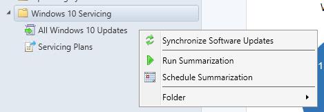 SCCM Windows 10 1703 Servicing Plans