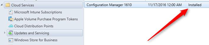 SCCM 1610 upgrade guide