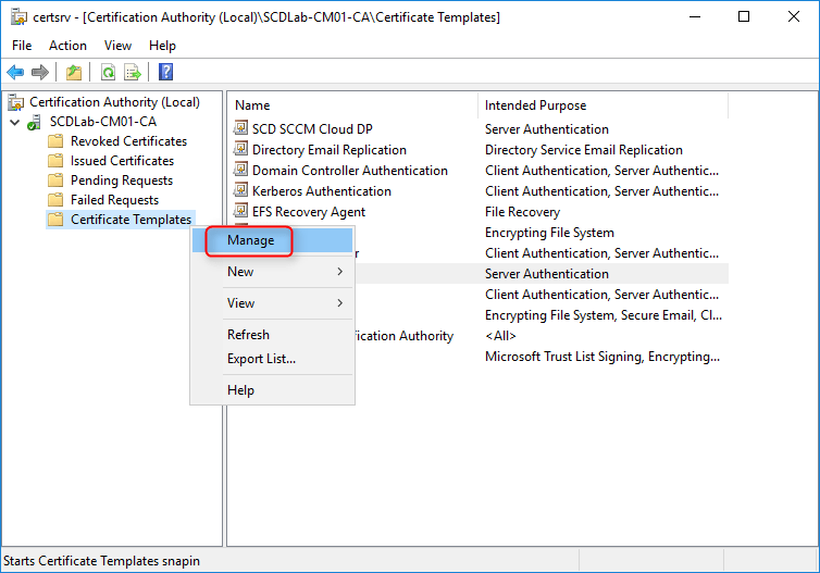 How to install an sccm cloud distribution point the certificate templates management console opens yelopaper Choice Image