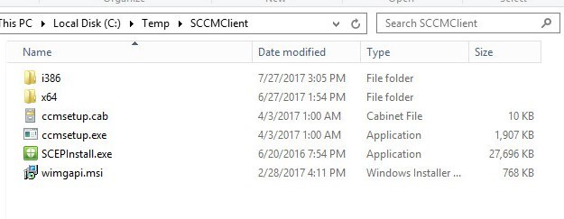 SCCM Client Install Workgroup Computers